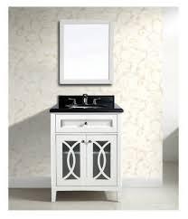 avant 31 inch single sink bathroom vanity set with mirror solid
