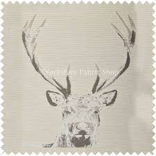 stag head designs beige colour stag head animal on plain background pattern soft
