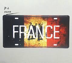 aliexpress com buy dl france map license plate garge bar cafe