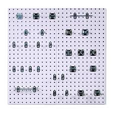 locboard 3 8 in white steel square hole pegboards with lochook