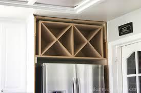 wine rack cabinet over refrigerator wine racks above kitchen cabinets cosmecol