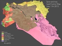 syria iraq land control map 11 june 2015 syriancivilwar