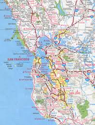 San Francisco County Map by Bay Area Map California California Map