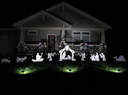 decor teak isle christmas outdoor nativity sets