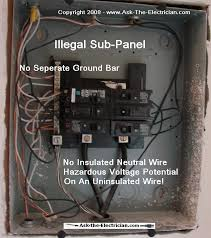 how to install and wire a sub panel