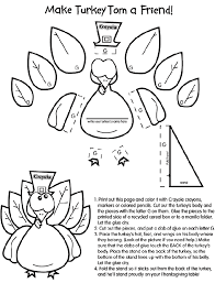 Thanksgiving Coloring Pages Cut Outs Turkey Craft Coloring Page Cut Coloring Pages