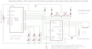 circuit diagram for the easydriver arduino manual stepper