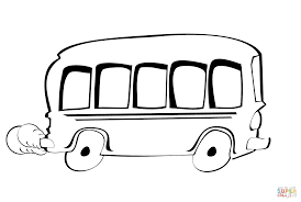 cartoon bus coloring page free printable coloring pages