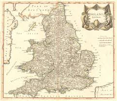 Map England by Vintage Map England 1695
