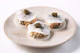 canapes recipe mooli and smoked salmon gluten free canapé recipe great chefs