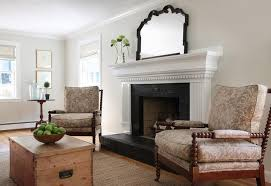 Mantel Bookshelf Brick Fireplace With Bookshelf Alcoves Cottage Living Room