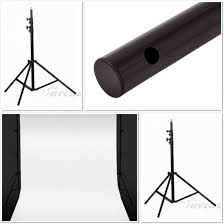 White Backdrop Photography Stand Kit Pvc Black U0026 White Backdrop 2 4m X 5m Sku Qtm B2405