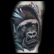 20 neo traditional gorilla tattoo designs for men ape ink ideas