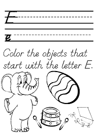 letter e coloring page kids coloring