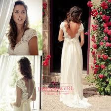 discount 2017 backless beach wedding dresses v neck cap