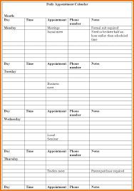 appointment calendar template daily appointment calendar png
