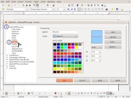 Open Office Spreadsheet Custom Fill Colors In Openoffice Org Computer Correct