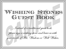 wedding wishes guest book wedding wishing guest book sign wishing stones