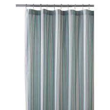 Aqua Blue Shower Curtains Striped Shower Curtains Shower Accessories The Home Depot