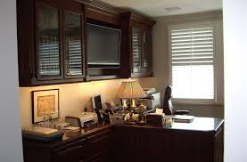 Built In Partners Desk In Home Office  Cabinet Wholesalers - Kitchen cabinets for home office