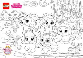 color fun with the palace pets princess lego disney coloring pages