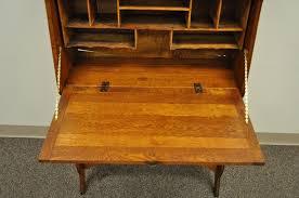 antique drop front desk antique secretary desk oak drop front thediapercake home trend