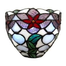Tiffany Sconces It U0027s Exciting Lighting Tiffany Rose And Leaves Indoor Sconce With
