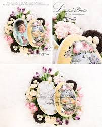 easter photo props easter egg with flower beautiful digital background newborn