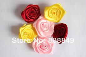 ribbon fabric fabric rosebuds no sew fabric diy handmade satin ribbon