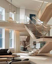 Loft Strasbourg by Modern Soho Penthouse Loft With Floating Staircases Manhattan