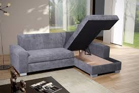 Grey Corner Sofa Bed Fabric Corner Sofa Bed With Storage Catosfera Net