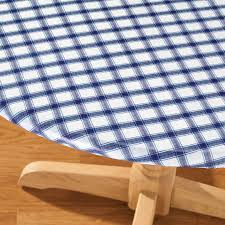 Fitted Oval Vinyl Tablecloths Plaid Elasticized Vinyl Table Cover Kitchen Miles Kimball