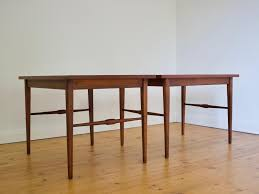 mid century modern walnut end tables set of 2 for sale at pamono