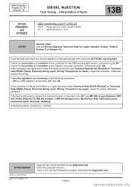 warning renault kangoo 2013 x61 2 g diesel dcm 1 2 injection