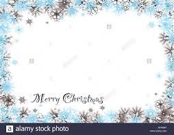 modern snow white christmas background with flakes border stock