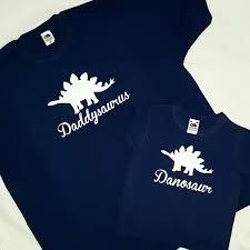 father son dinosaur t shirts personalised daddysaurus shirt