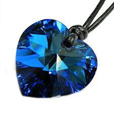 blue heart necklace images Swarovski elements crystal bermuda blue heart love jpg