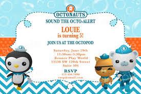 octonauts birthday invitations octonauts birthday invitations with