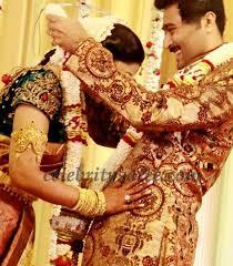 Reception Sarees For Indian Weddings Sneha In Gold Sari At Her Wedding Reception Saree Blouse Patterns