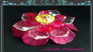 cara membuat kerajinan akrilik membuat bros bunga dari akrilik amuslima