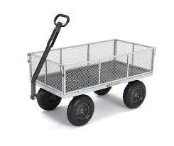 amazon com gorilla carts heavy duty steel utility cart with
