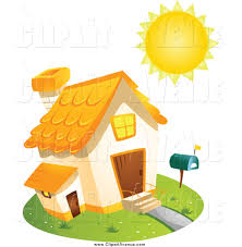 Home Clipart Avenue Clipart Of A Sun Shining Over A Home By Bnp Design Studio