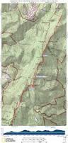 Appalachian Trail Virginia Map by At In Snp Swift Run Gap To Milam Gap