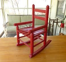Red Rocking Chairs Antique Red Oak Wood Children U0027s Rocking Chair Old Vintage Rocker
