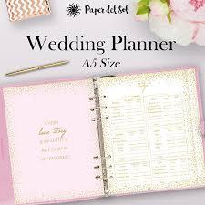 wedding planning binder filofax wedding planner printable a5 wedding planner binder