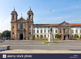 Neoclassical Architecture Populo Church In The City Of Braga Minho Portugal Mannerist