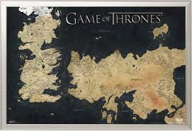Map Westeros Game Of Thrones Map Of Westeros Film Movie Poster Druck
