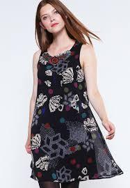 desigual designer desigual outlet desigual summer dress black casual dresses