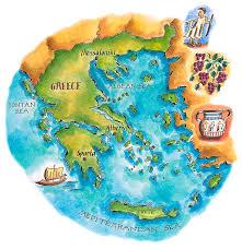 Sparta Greece Map by Map Of Greece U0026 Greek Isles Digital Art By Jennifer Thermes