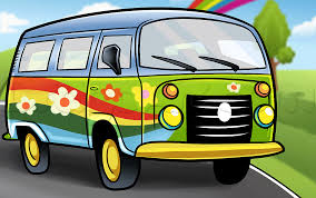 green volkswagen van how to draw a hippie van step by step trucks transportation